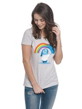 Disney Inside Out Rainbow Girl Tee gray melange – Bild 0