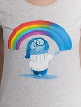Disney Inside Out Rainbow Girl Tee gray melange – Bild 3