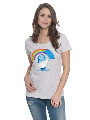 Disney Inside Out Rainbow Girl Shirt grau meliert – Bild 1