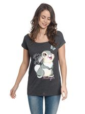 Bambi Big Thumper Loose Tee for women Gray Melange – Bild 1
