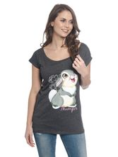 Bambi Big Thumper Loose Tee for women Gray Melange – Bild 0