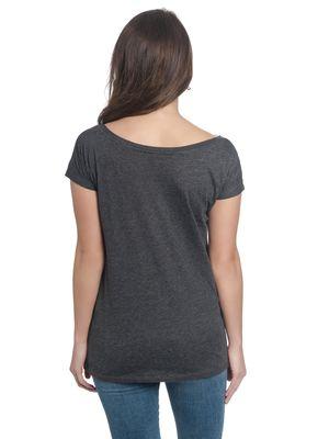 Bambi Big Thumper Damen Loose T-Shirt Grau Melange – Bild 3