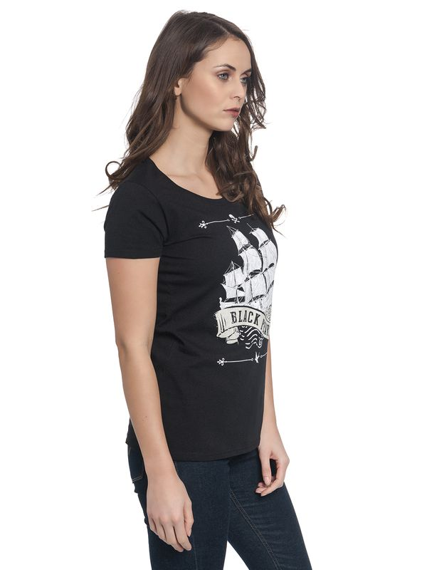Pirates of the Caribbean Black Pearl Girl Tee Shirt black – Bild 2
