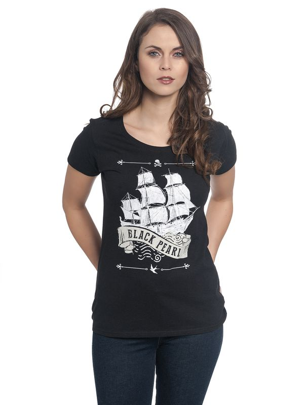 Pirates of the Caribbean Black Pearl Girl Tee Shirt black – Bild 1