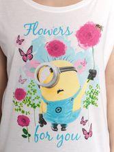 Minions Minions Flowers Girl Loose Shirt white – Bild 3