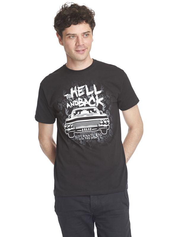 Supernatural To Hell Men T-Shirt black – Bild 4