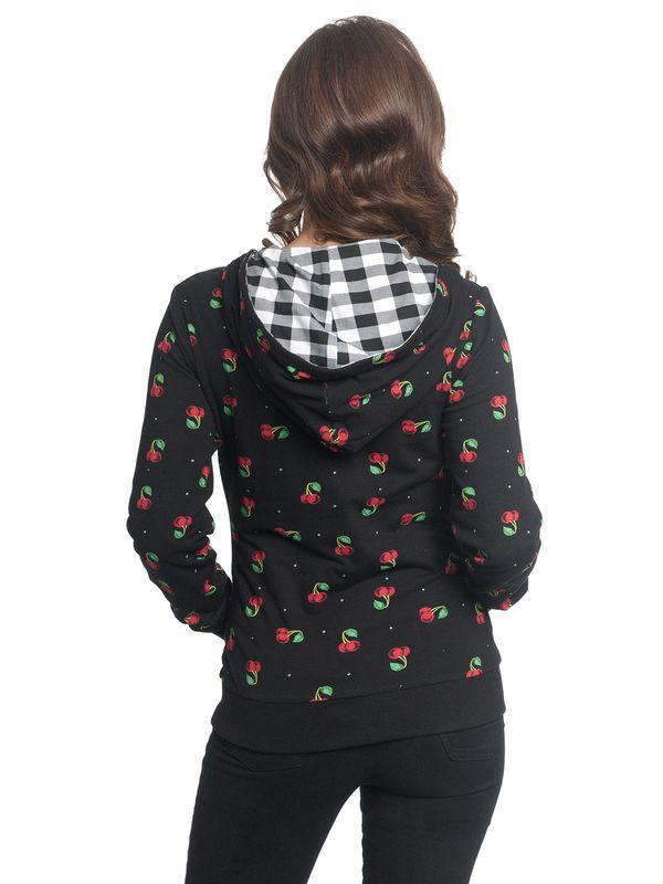 Pussy Deluxe Vichy & Cherries Reversible Jacket black allover – Bild 8