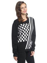 Pussy Deluxe Checkered Knit Pullover schwarz/white – Bild 1