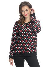 Pussy Deluxe Mixed Dotties Knit Pullover black allover – Bild 0