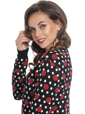 Pussy Deluxe Mixed Dotties Knit Pullover schwarz allover – Bild 1