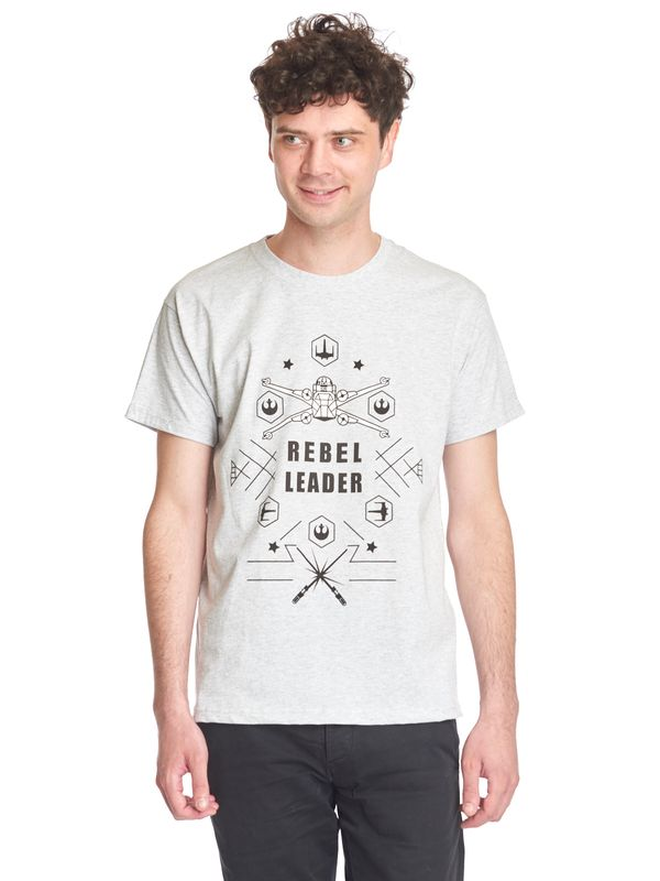 Star Wars Rebel Leader tee gray melange – Bild 1