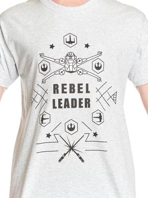Star Wars Rebel Leader Herren T-Shirt grey-melange – Bild 1