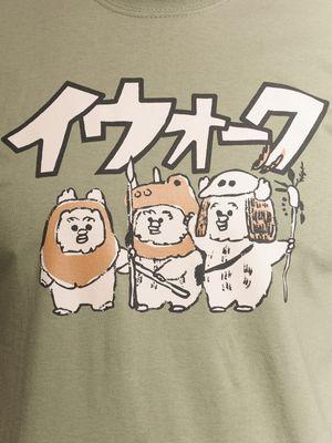 Star Wars Ewoks Herren T-Shirt oliv – Bild 2