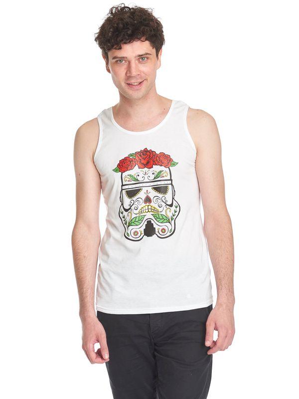 Star Wars Sugarskull Stormtrooper Top male white – Bild 1
