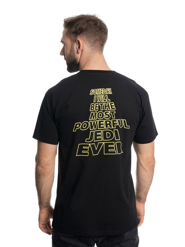 Star Wars Most Powerful Jedi Male Tee Black – Bild 7