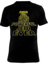Star Wars Most Powerful Jedi Male Tee Black – Bild 1