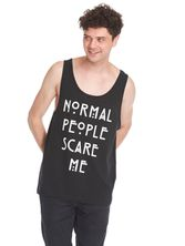 American Horror Story Normal People Scare Me Sleeveless Men Tee Shirt black – Bild 1