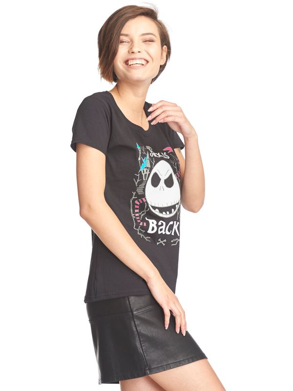 The Nightmare Before Christmas Jack Is Back Frauen Shirt schwarz – Bild 3