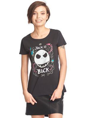 The Nightmare Before Christmas Jack Is Back Frauen Shirt schwarz – Bild 0
