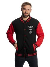 American Horror Story Normal People College Jacket black/red – Bild 2
