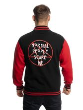 American Horror Story Normal People College Jacket black/red – Bild 3