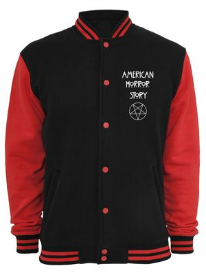 American Horror Story Normal People College Jacke schwarz/rot – Bild 0