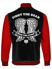 The Walking Dead Wings College Jacket black/red – Bild 1
