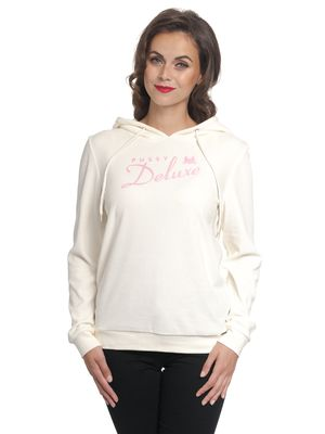 Pussy Deluxe Classic Fluffy Hoodie cream/pink – Bild 0
