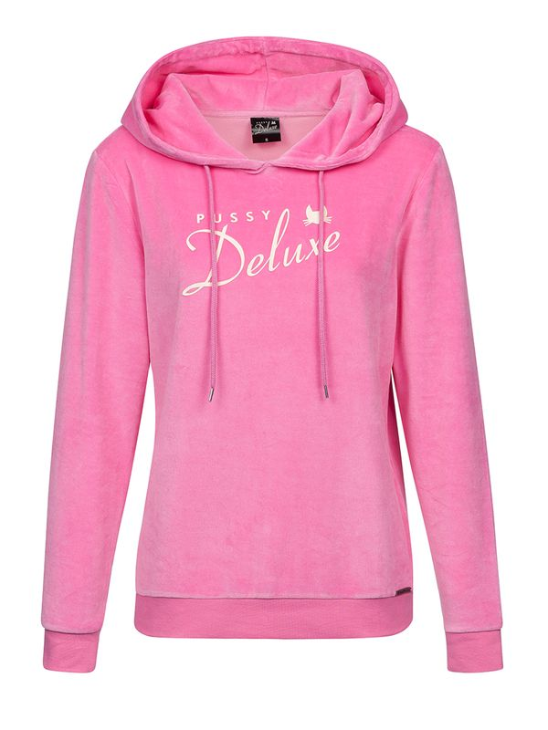 Pussy Deluxe Classic Fluffy Hoodie pink cream view