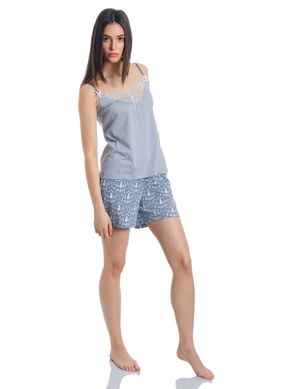 Vive Maria Meets Alice in Wonderland My Blue W. Short Pyjama blue allover – Bild 2