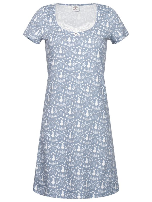 Vive Maria Meets Alice in Wonderland Falling In W. Nightdress blue allover view