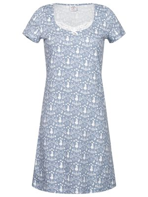 Vive Maria Meets Alice in Wonderland Falling In W. Nightdress blue allover – Bild 0