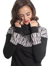 Pussy Deluxe Tribal Shawl Hoodie black/allover – Bild 0