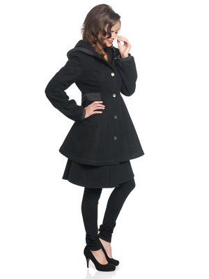 Pussy Deluxe Pretty Dotties Girl Coat black – Bild 2