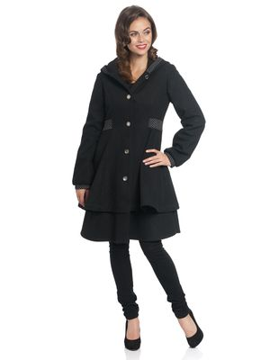 Pussy Deluxe Pretty Dotties Girl Coat black – Bild 1