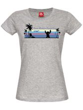 Lilo und Stitch Palm Beach Girl Tee grey melange