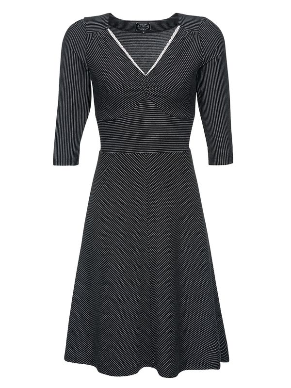 Vive Maria Dandy Pinstripe Dress black view
