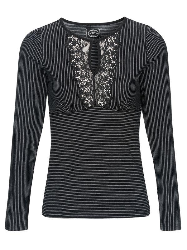 Vive Maria Dandy Pinstripe Shirt black – Bild 1