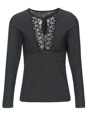 Vive Maria Dandy Pinstripe Shirt black – Bild 0