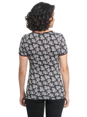 Vive Maria Sweet China Flower Shirt schwarz allover – Bild 1