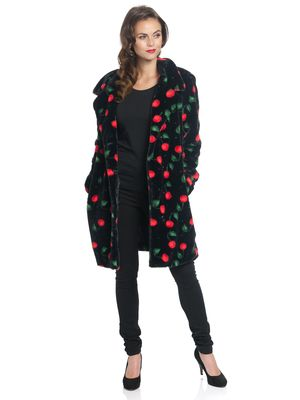 Pussy Deluxe Cherry Bomb Coat black allover – Bild 0