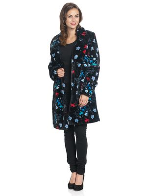 Pussy Deluxe Blossom Coat black allover – Bild 2