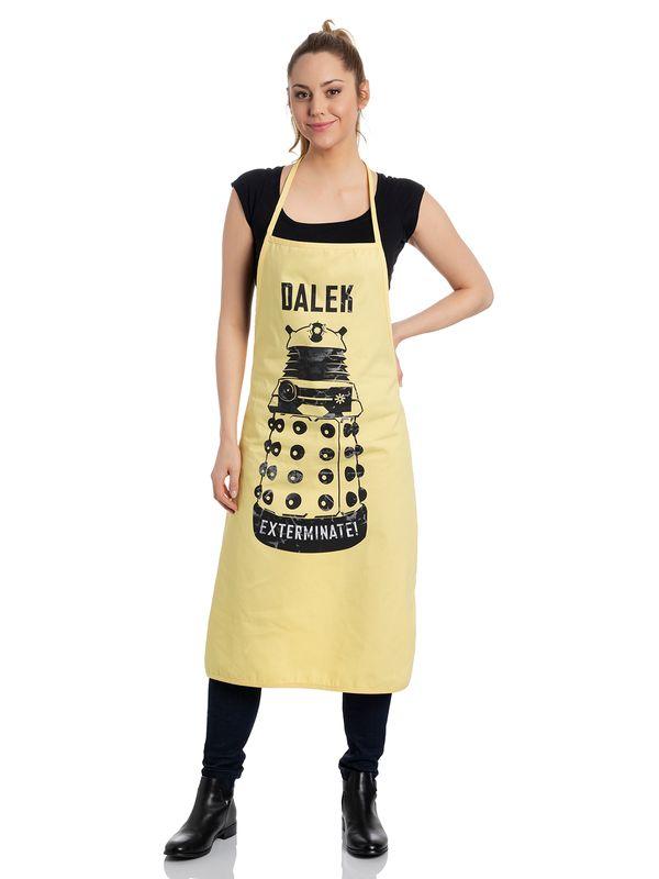 Doctor Who Dalek Kochschürze gelb Ansicht