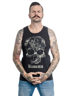The Walking Dead Skull Top male black – Bild 0