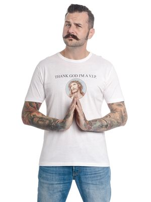 VIVE MARIA Thanks God I'm A VIP Herren Shirt white – Bild 0