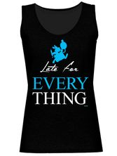 Alice in Wonderland Late For Everything Girl Top black