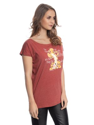 Winnie the Pooh Winnie The Pooh Different Girl Loose Shirt red-melange – Bild 1
