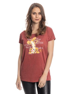 Winnie the Pooh Winnie The Pooh Different Girl Loose Shirt red-melange – Bild 0