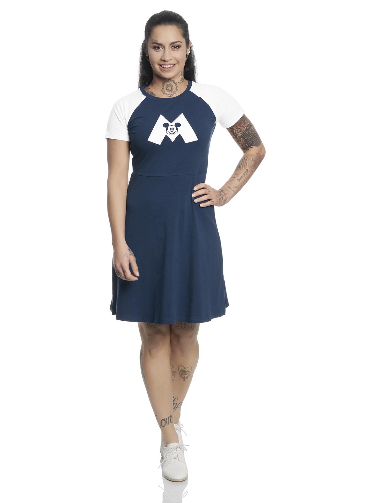Disney Mickey Mouse M College Dress navy white