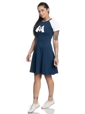 Disney Mickey Mouse M College Dress navy/white – Bild 1